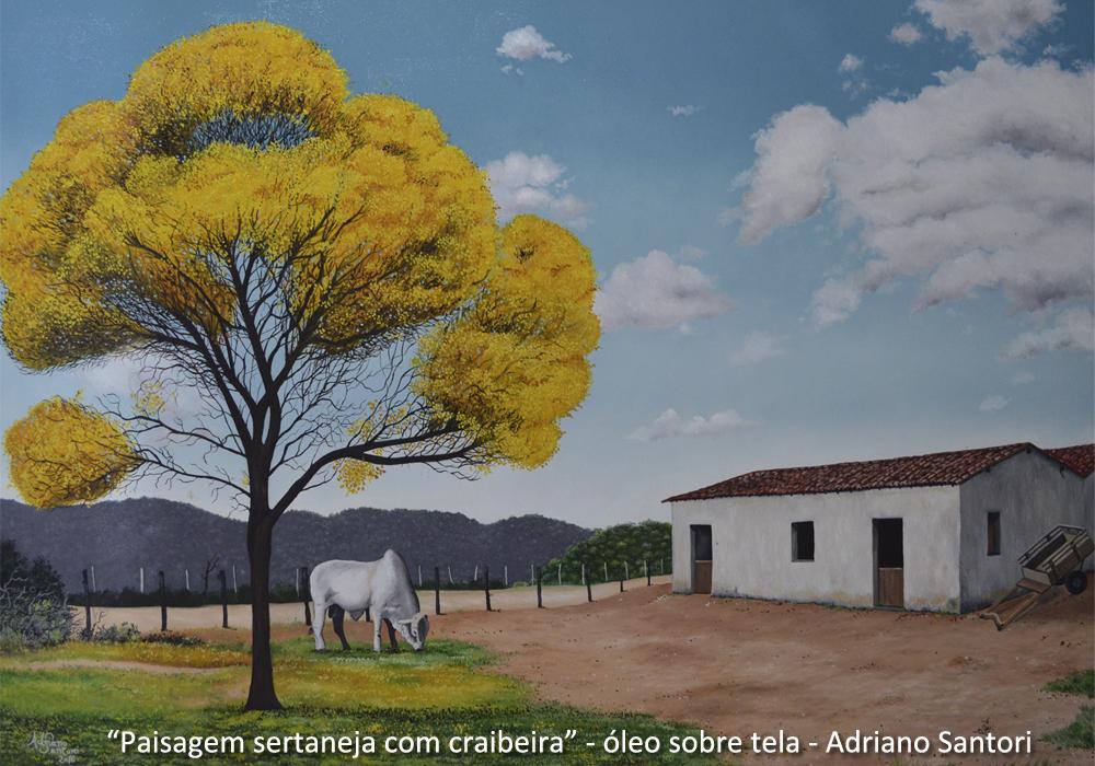 Paisagem seraneja com craibeira Adriano Santori