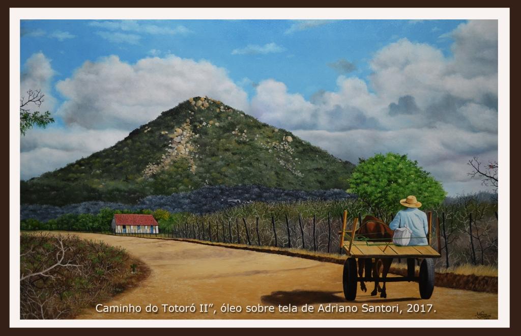 Caminho do Totoró pintura Adriano Santori Currais Novos